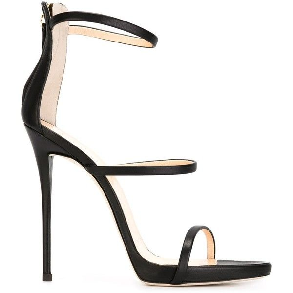 Black Strappy Sandals Heels a6BpXOoY