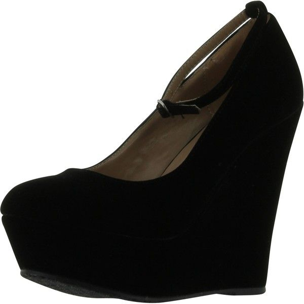 Black Wedge Heel Shoes U71x93vB