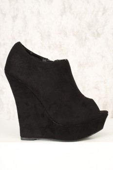 Black Wedge Heel Shoes tAL9mBDP