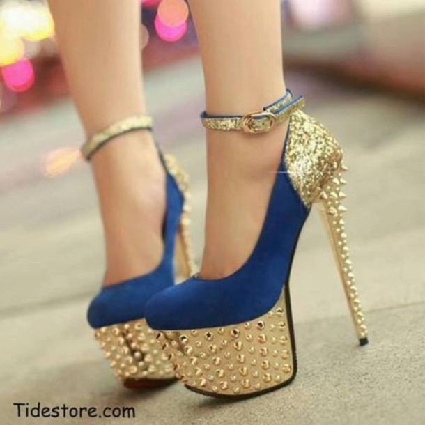 Blue And Gold Heels 0vwOoS3c