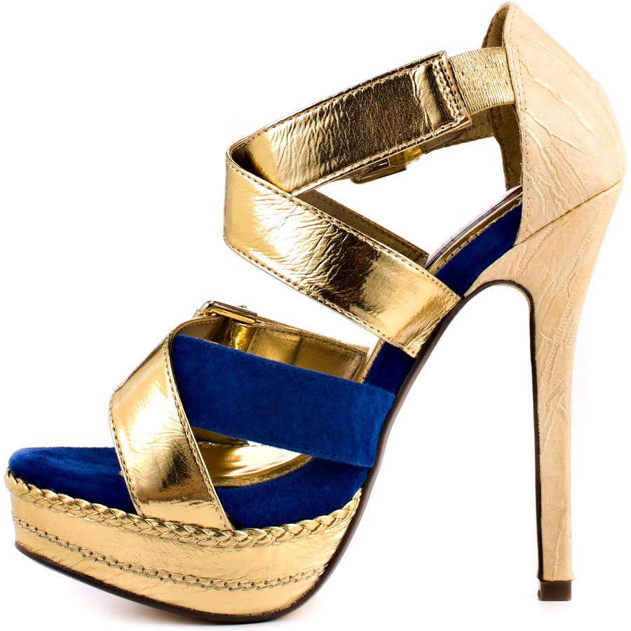 Blue And Gold Heels Ja8h977H