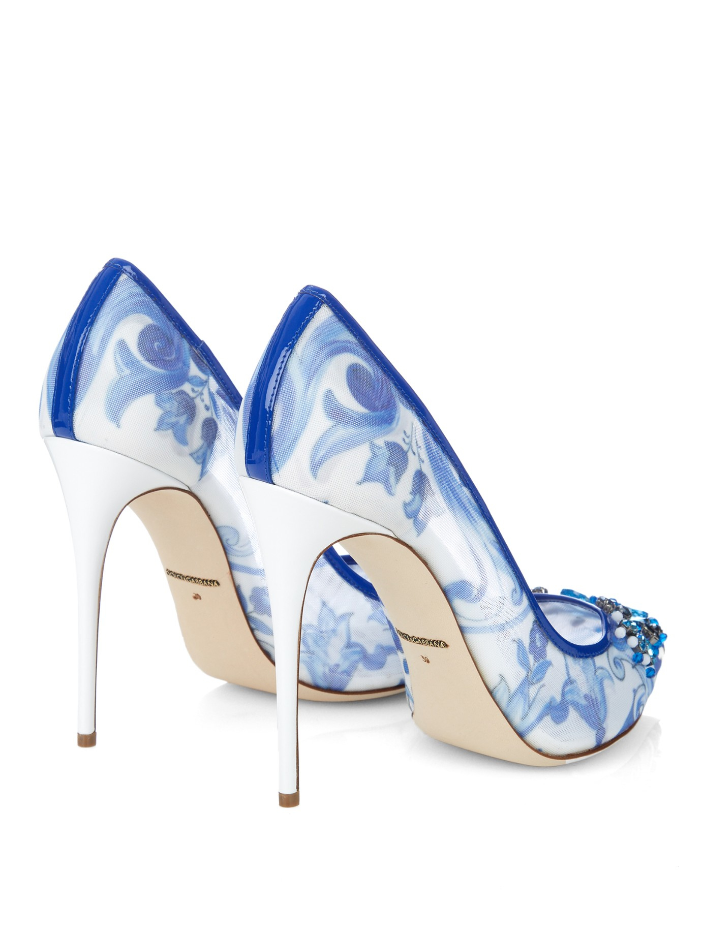 Blue And White Heels kCgZw2OD