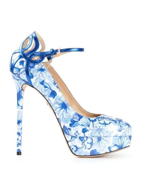 Blue And White Heels sTF88FUr