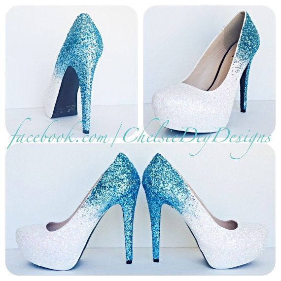 Blue And White High Heels 1Gj0PyQy
