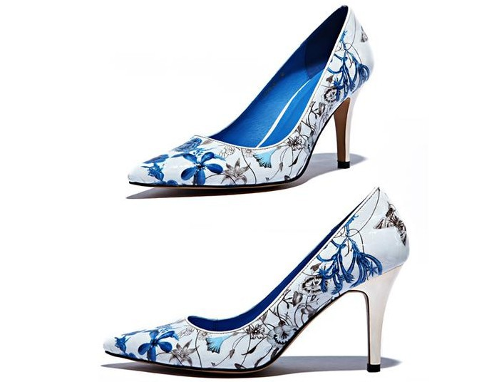 Blue And White High Heels jEiEt6uR