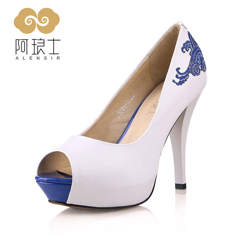 Blue And White High Heels A2oRUgyH