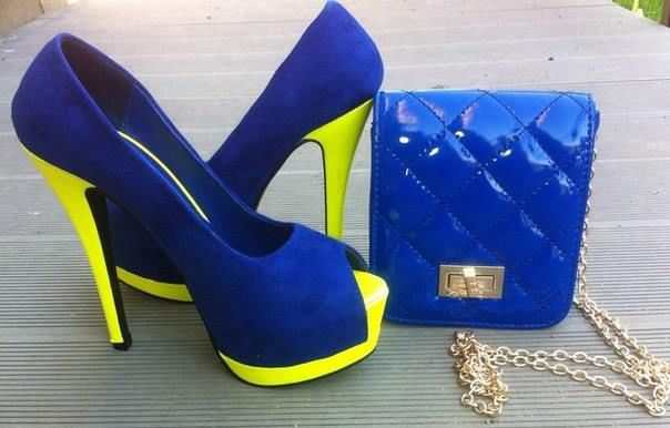 Blue And Yellow Heels mEYx1QJZ