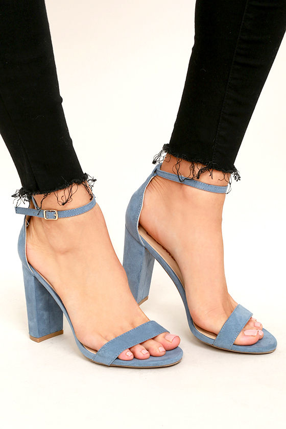 Blue Heels With Ankle Strap PfJoUHHP