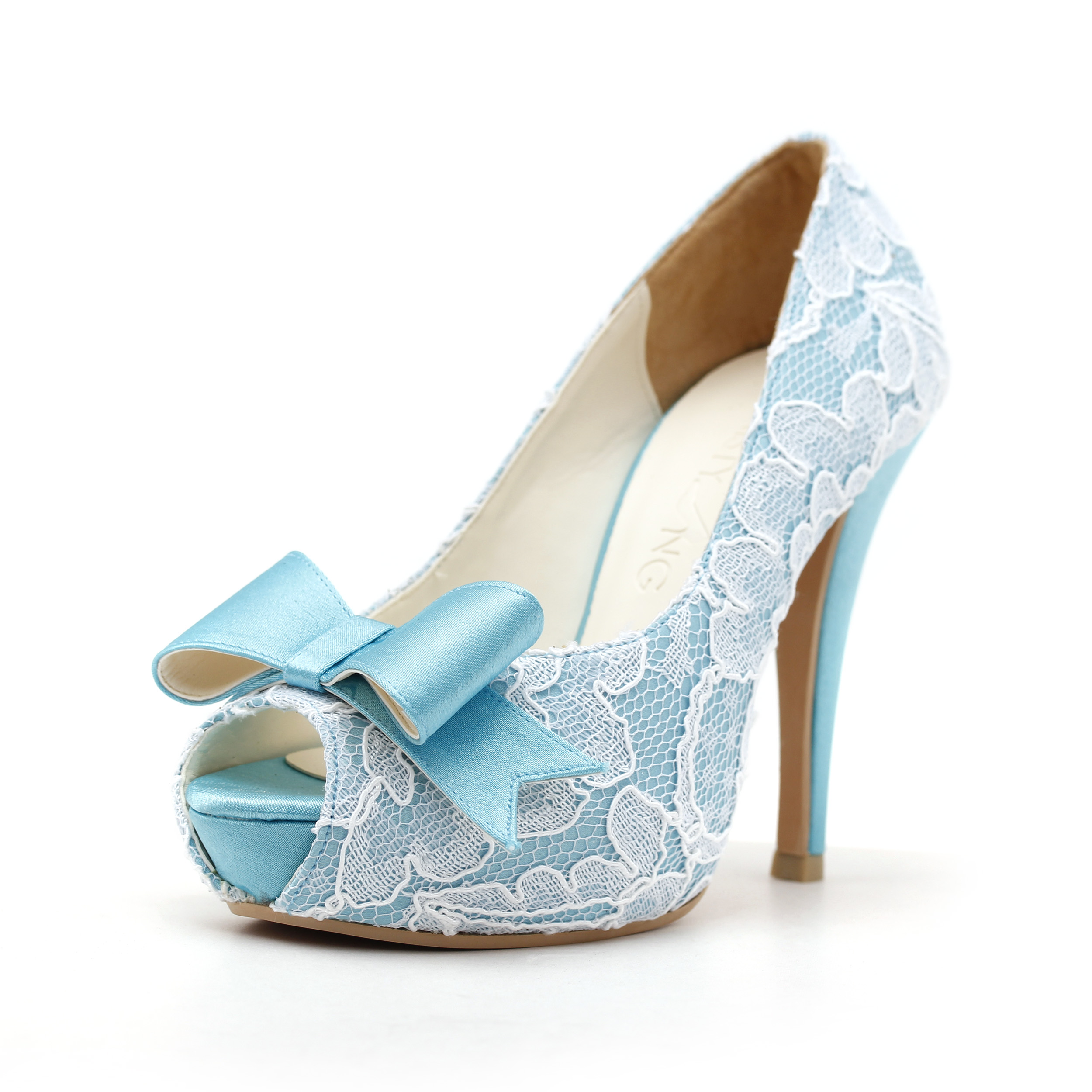 Blue High Heels Wedding Shoes P9QUZGqg