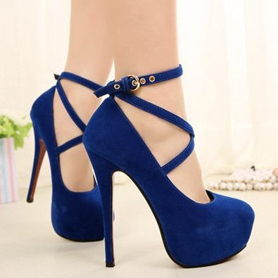 Blue High Heels Wedding Shoes qWxbh2Qh