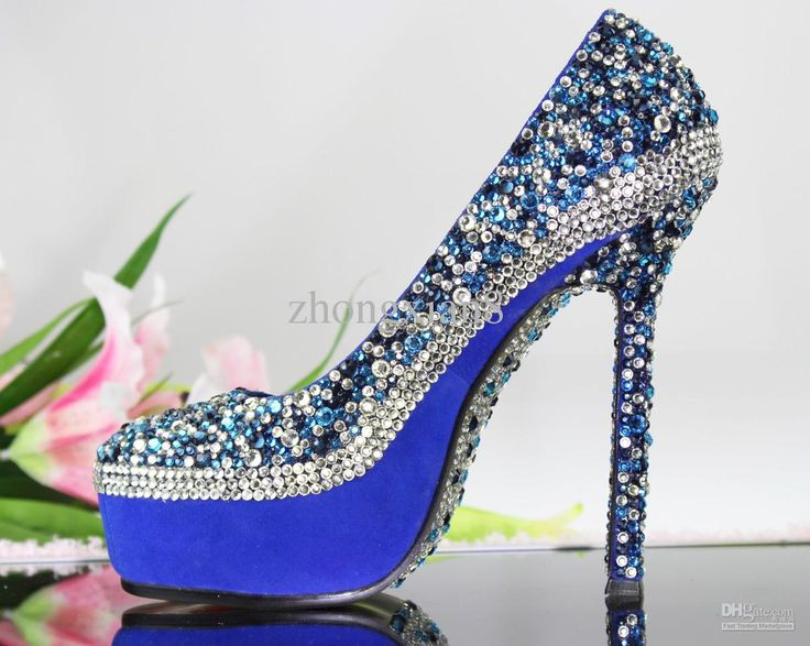 Blue High Heels Wedding Shoes ZERCCLXu