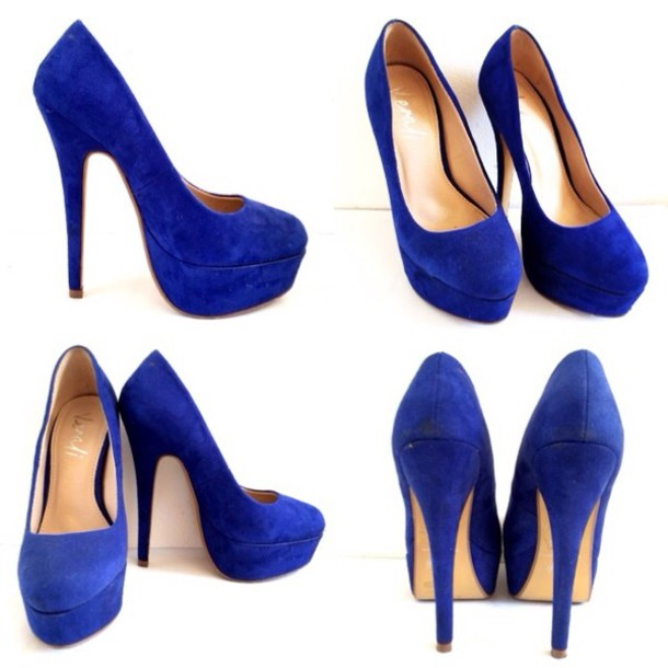 Blue Suede High Heels 8RQhj4E7