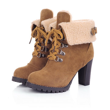 Boot Heels Lace Up cLe762zt