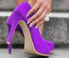 Bright Purple Heels SrTVs1nj