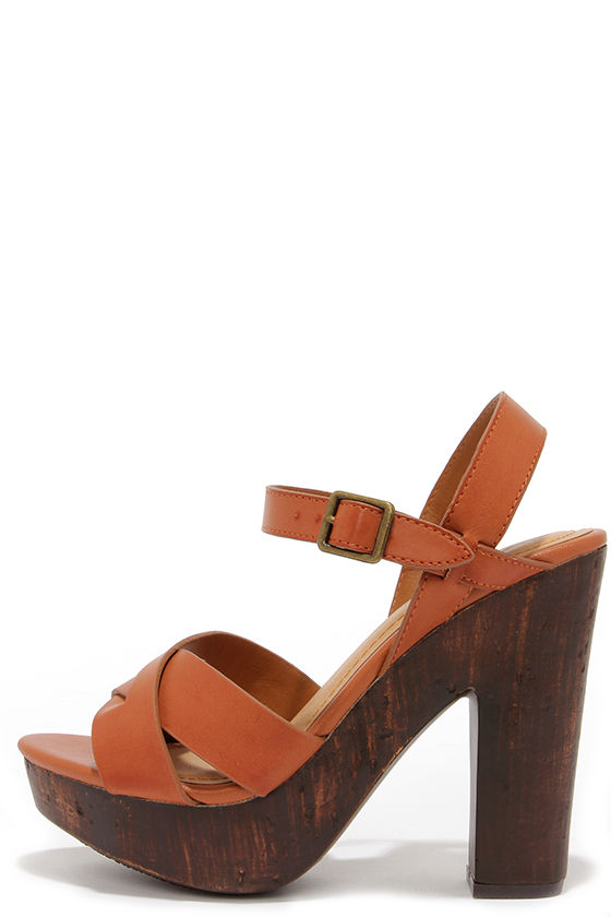Brown Platform Heels zR4tIHFW