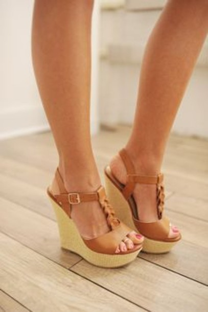 Brown Wedge Heels Ul2XbGr1