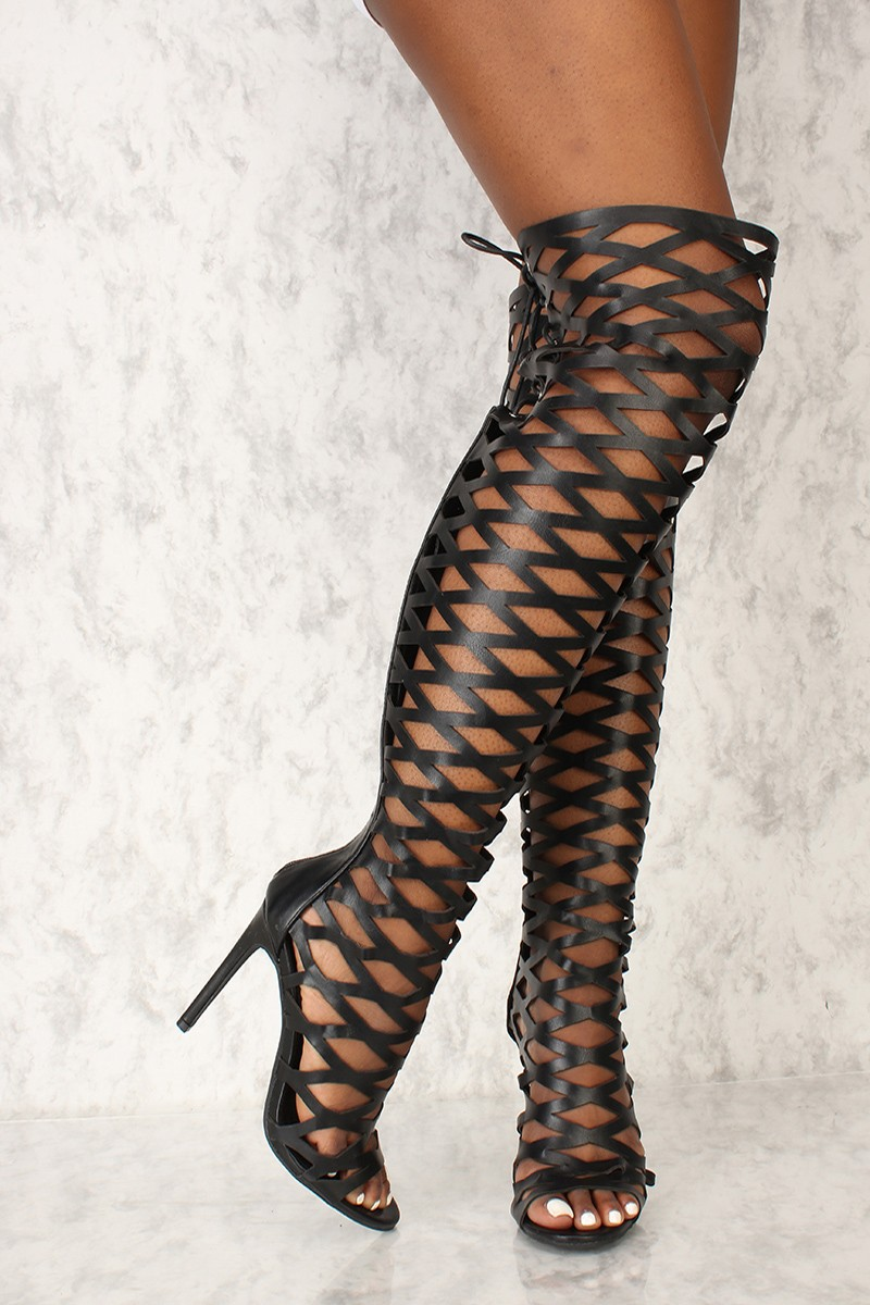 Caged Gladiator Heels 45tYLtvD