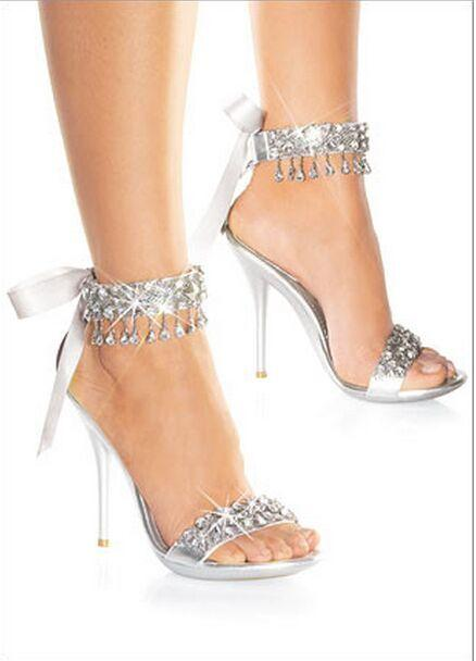 Cheap Silver Strappy Heels Me8diZnA