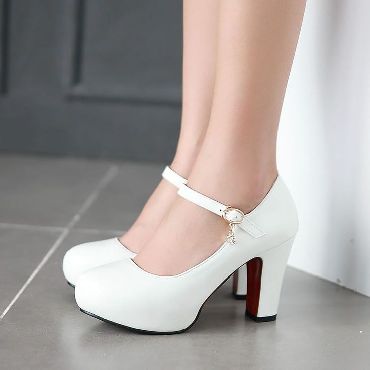 Cheap White Heels WaYOO91G