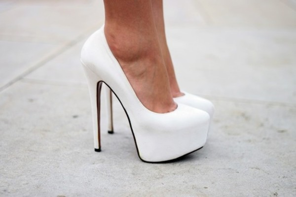 Cheap White Heels asC38HpH