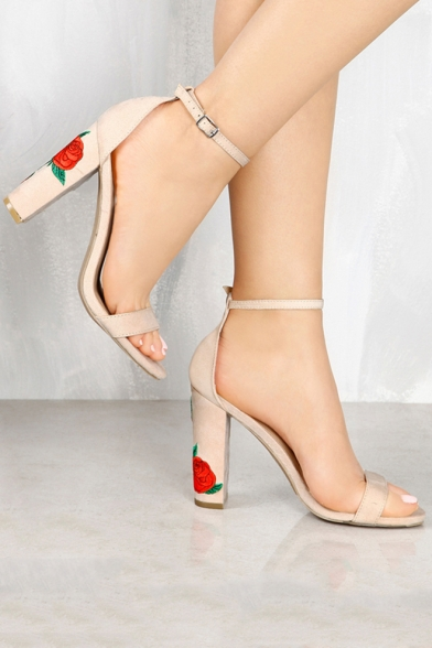 Chunky Heel Ankle Strap 16Bqy3F8