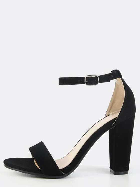 Chunky Heel Ankle Strap 2dXWlkel