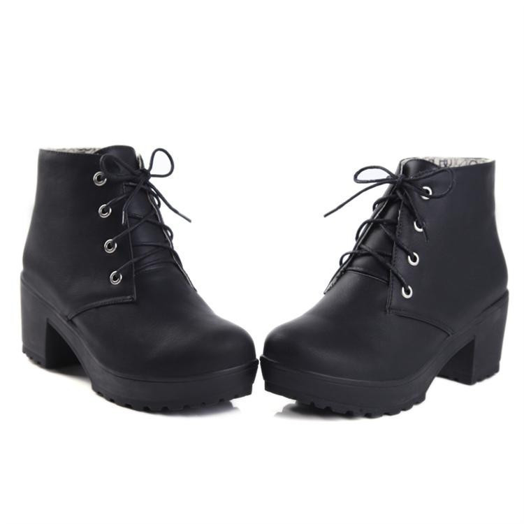 Chunky Heel Lace Up Ankle Boots gGfXi9RD