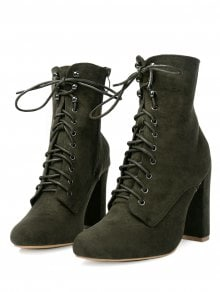 Chunky Heel Lace Up Ankle Boots 9hnjf9al