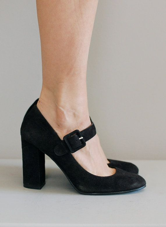 Chunky Heel Mary Jane Shoes tZVOYiaL