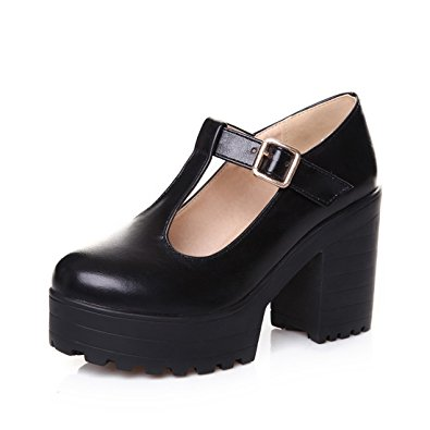 Chunky Heel Mary Jane Shoes E5vc2XHq