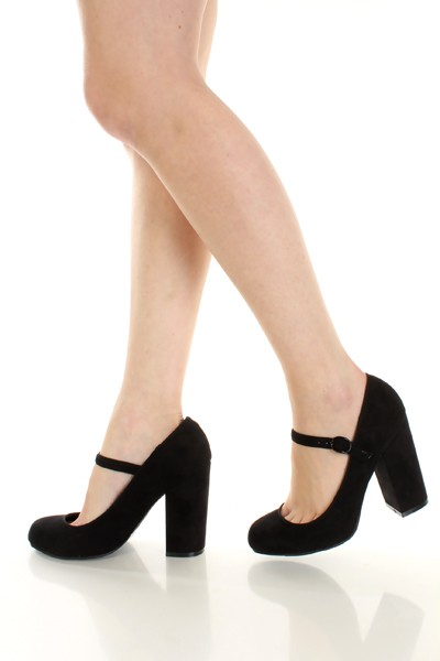 Chunky Heel Mary Jane Shoes K3LNDGqt