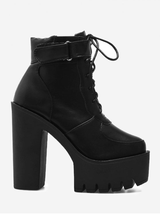 Chunky Heel Platform Ankle Boots 3RS2RTEs