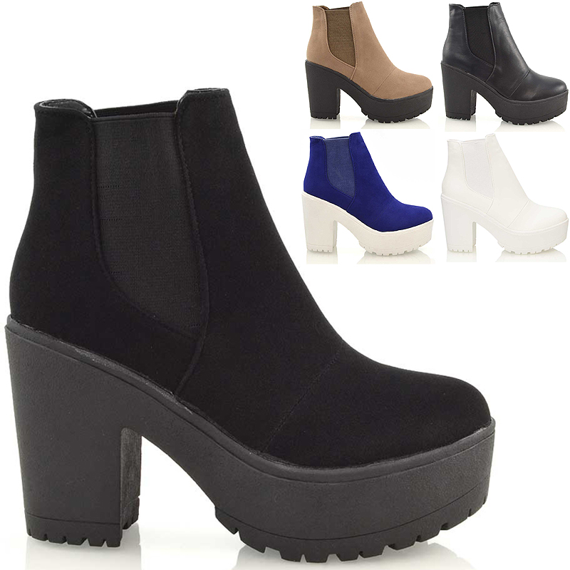 Chunky Heel Platform Ankle Boots y4m7oqpP