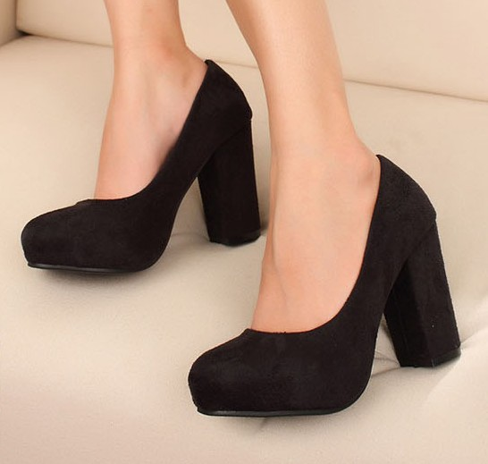 Chunky High Heel Shoes LoFY62uh