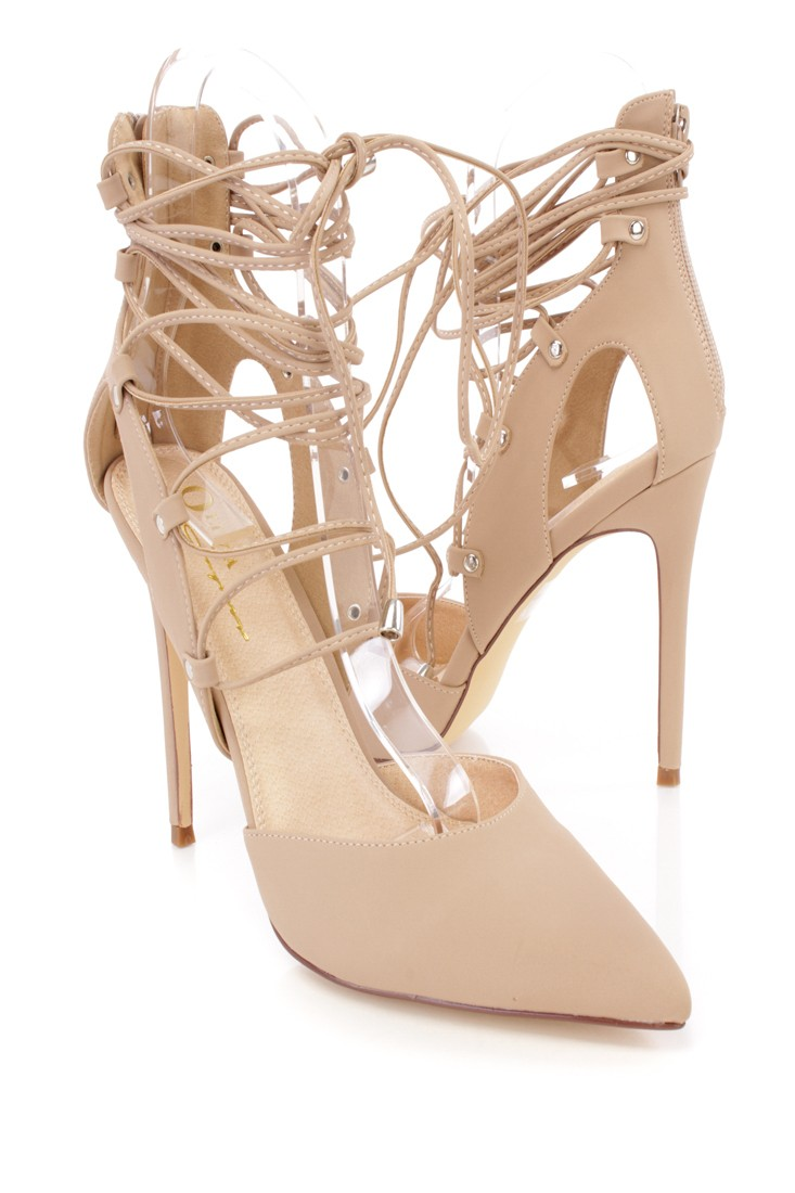 Closed Toe Nude Heels w6m6xbep
