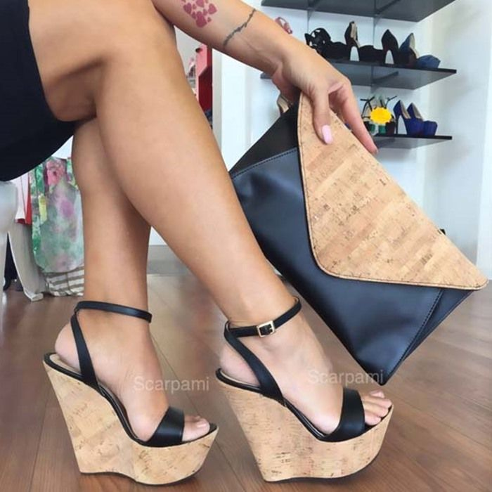 Cork Wedge Heels RTJG3xPQ