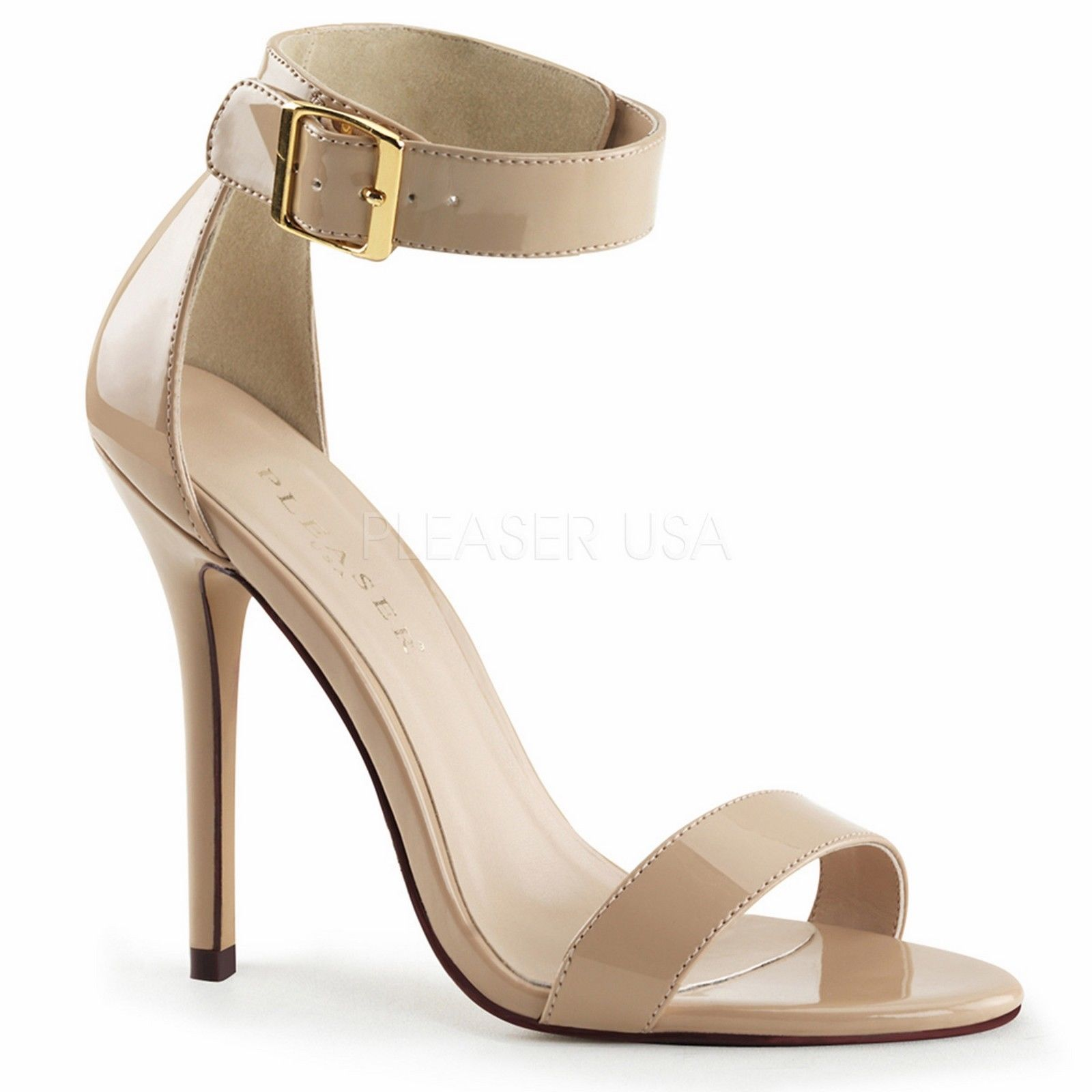 Cream Heels With Ankle Strap 8EKAWgYq