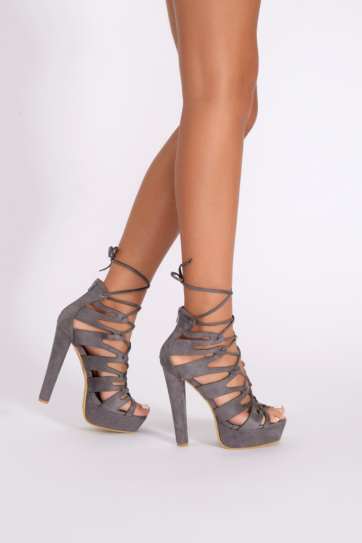 Cut Out Lace Up Heels iqR3aubM