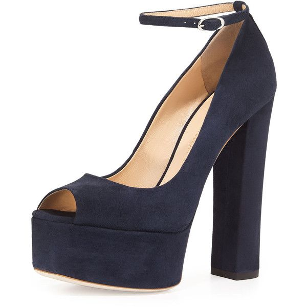 Dark Navy Blue High Heels kzfRt35J