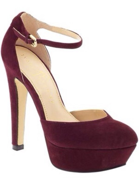 Dark Red Shoes High Heels JJMs27jl