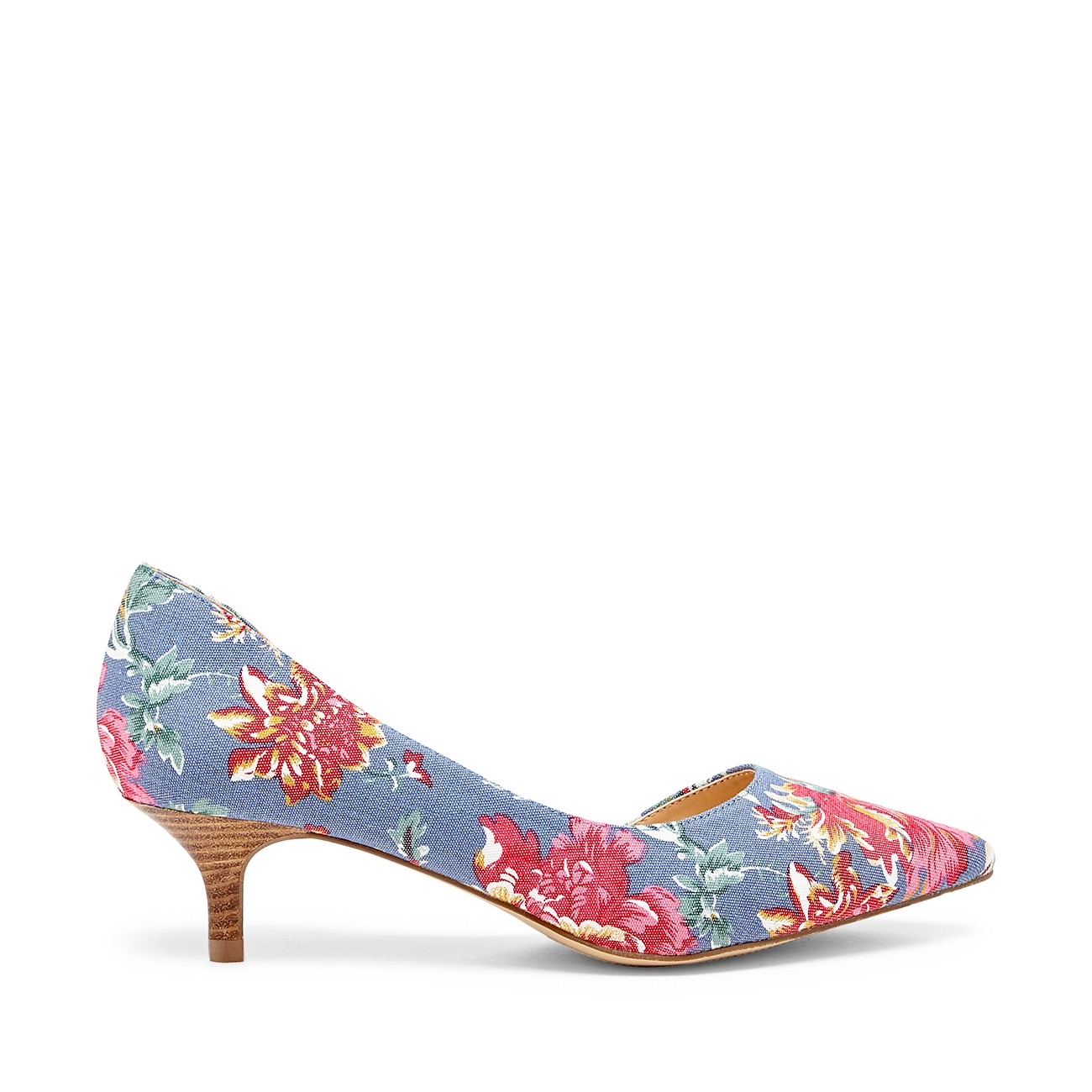 Floral Kitten Heel Shoes SitEP92p