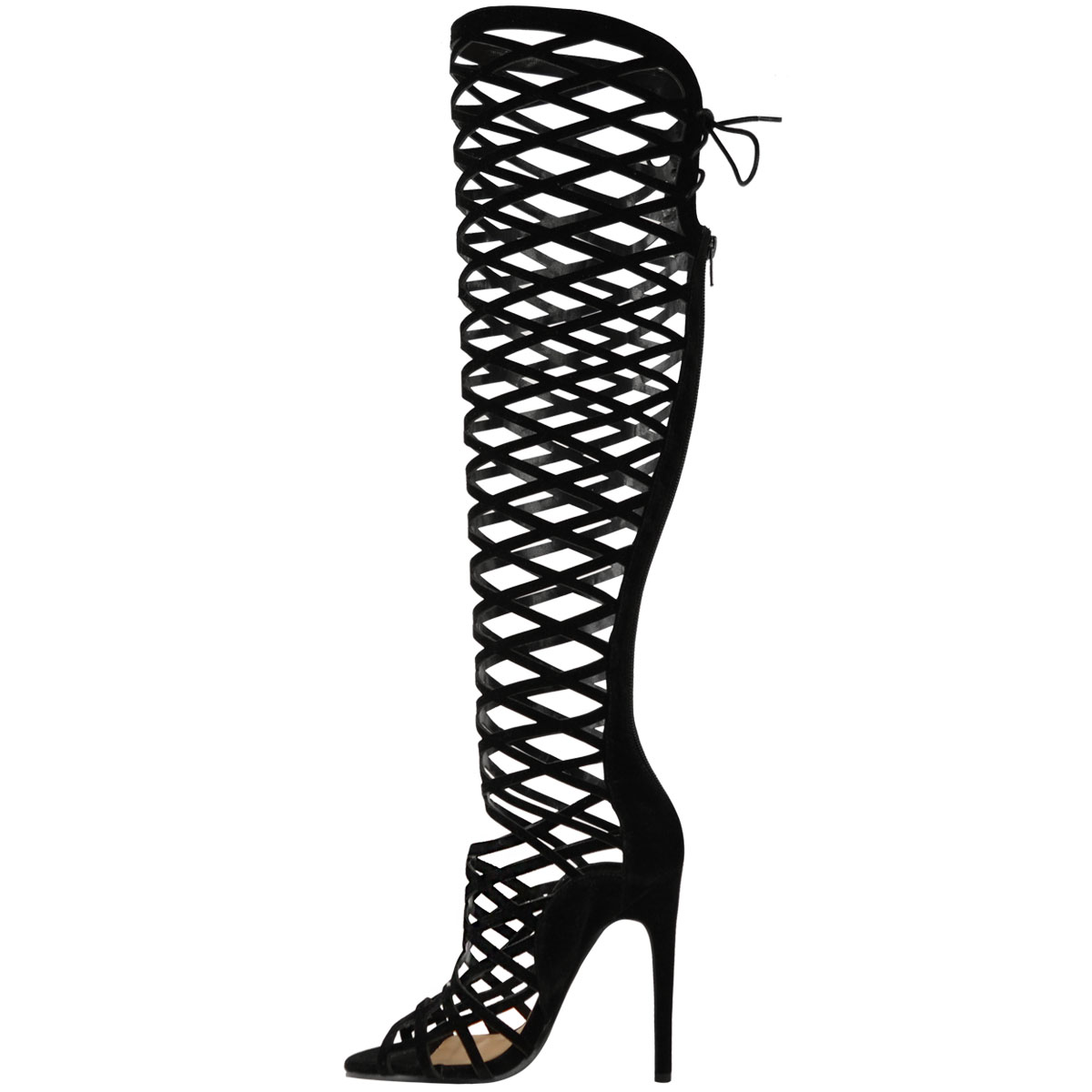 Gladiator Knee High Heels 4RrUrrfB