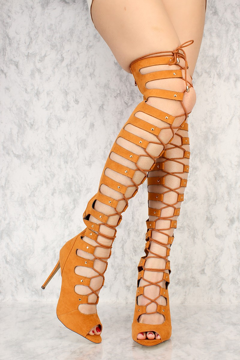 Gladiator Knee High Heels 0rVhdhS4