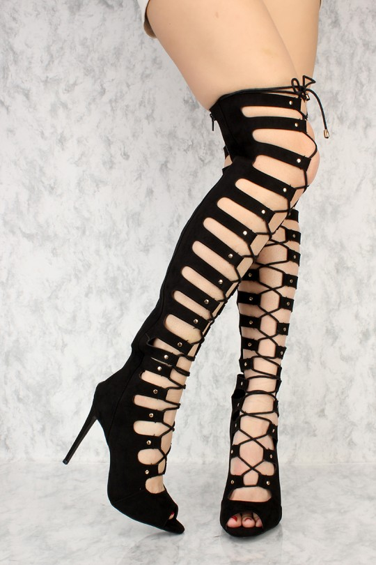 Gladiator Sandals With A Heel 8162PsLO