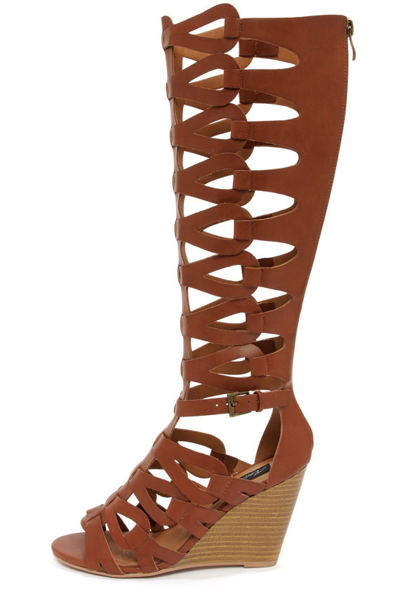 Gladiator Wedge Heel Sandals ytqahbpg