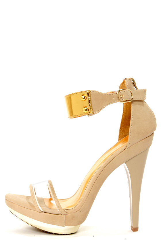 Gold And Nude Heels 5eOLfOr4