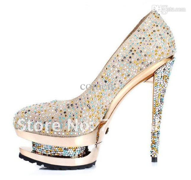 Gold And Silver Heels HpGhe748
