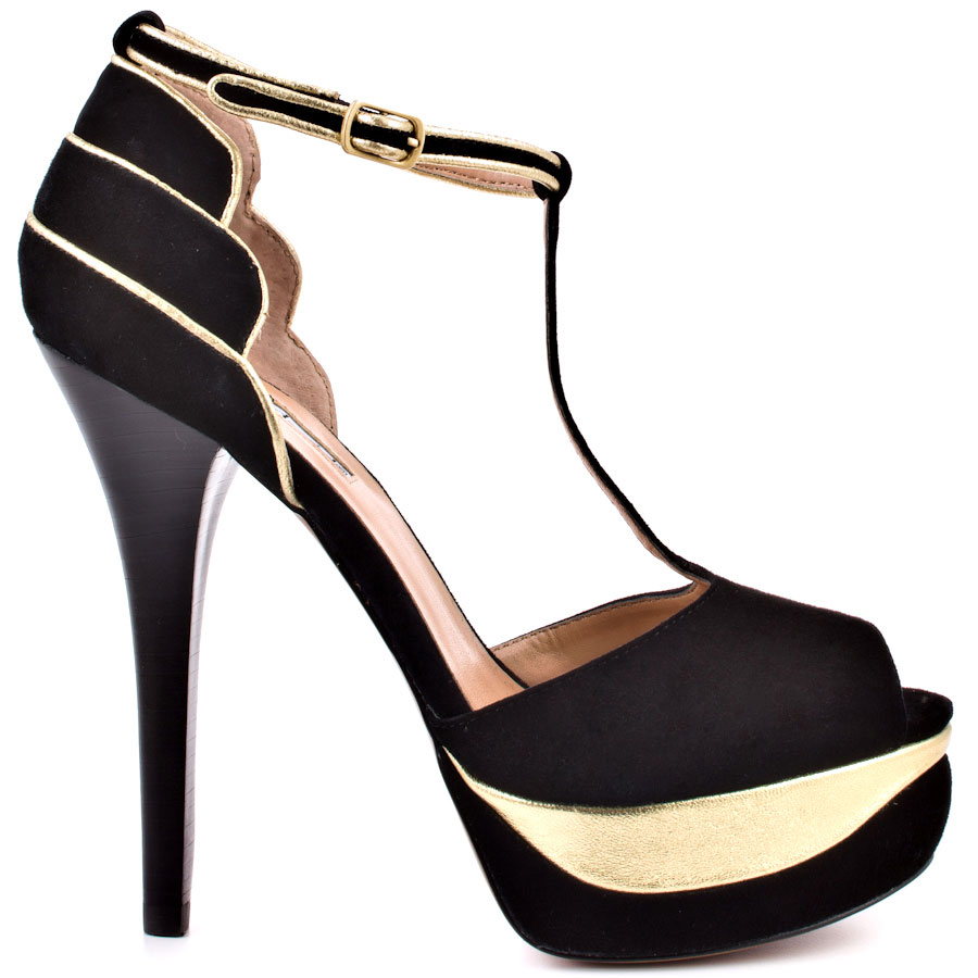 Gold Black Heels fSDRgsan