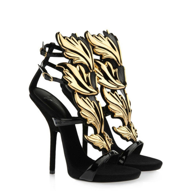 Gold Black Heels db6NnVUY