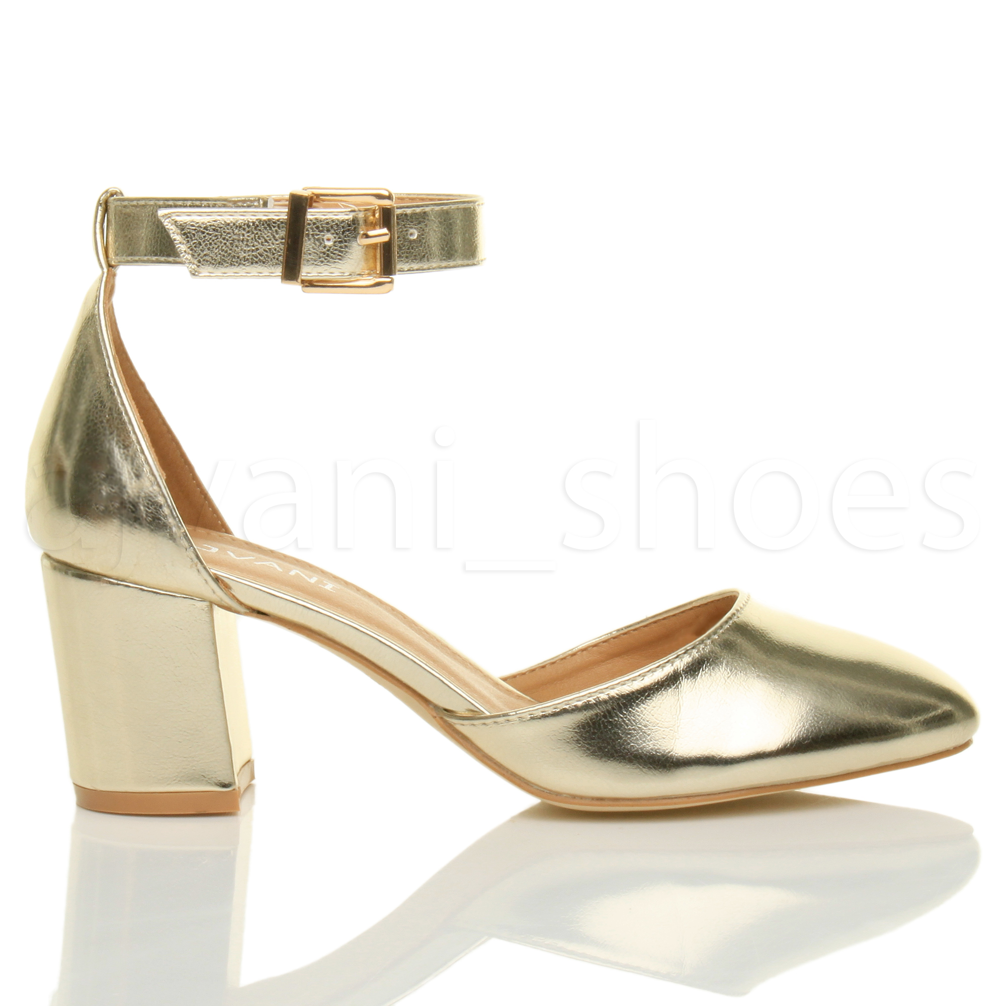 Gold Block Heel Shoes 4GDWIvS0
